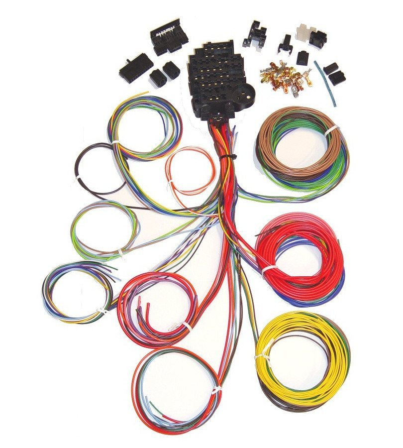 12 circuit harness1 810x900 universal 12 circuit auto wiring harness hotrodwires com what is the wire harness in a car at soozxer.org