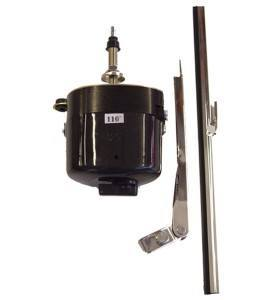 Black Plastic Electric Wiper Motor with 7.5″ Stainless Steel Arm and 11″ Blade