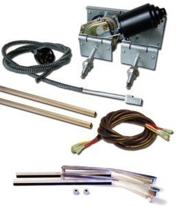 Universal Wiper System w/Stainless Steel Arms, Blades and Adapters