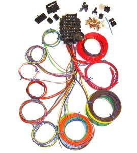 Universal 18 Circuit Auto Wiring Harness | HotRodWires.com on universal car covers, universal tools, universal electronics, universal fuel tanks,