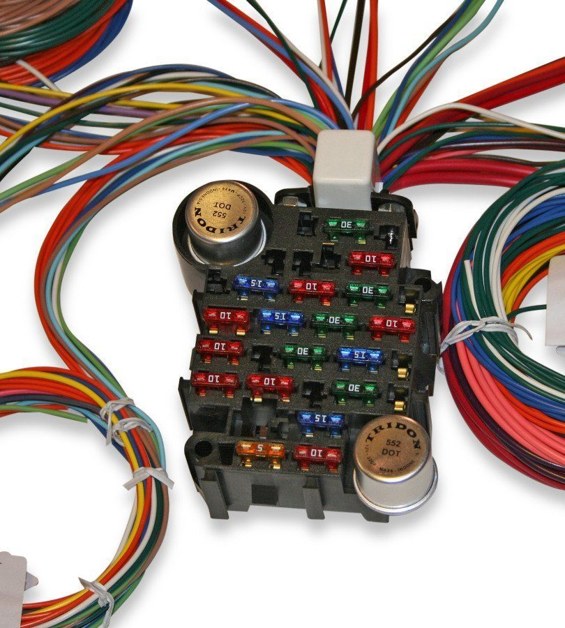 Best Hot Rod Wiring Harness : Universal circuit auto wiring harness hotrodwires